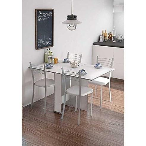 Klapptisch Für Küche / Wohnzimmer / Büro Mit 2 Seitenteilen, Weiß