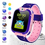 HuaWise Kids Smartwatch[SD Card Included], Waterproof Smartwatch for Kids with Quick Dial, SOS Call, Camera and Music Player, Birthday Gift Game Watch for Boys and Girls(Not Support AT&T) (Pink)