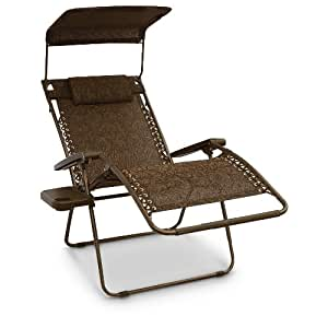 Amazon Com Bliss Gravity Free Canopy Recliner Brown