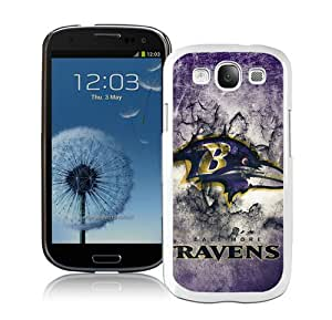 High Quality Samsung Galaxy S3 I9300 Case ,Baltimore Ravens 15 White Samsung Galaxy S3 Cover Unique And Fashion Designed Phone Case
