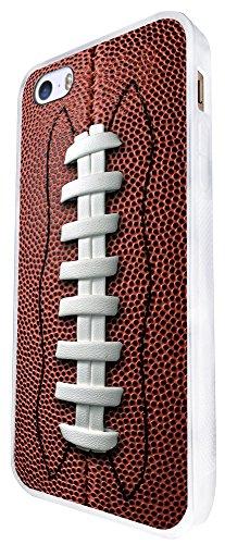 658 - American Football Ball Design iphone SE - 2016 Coque Fashion Trend Case Coque Protection Cover plastique et métal - Blanc