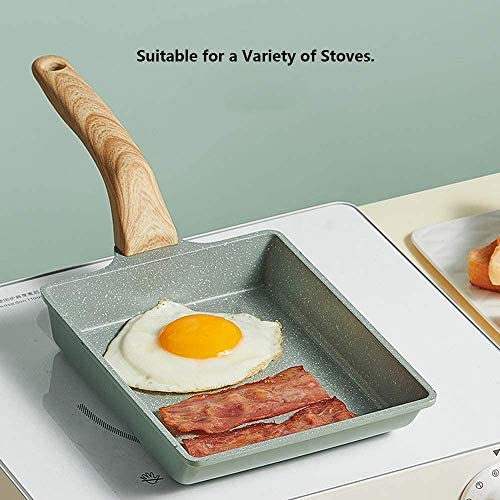 Zuoao Place Mini antiadhésive Accueil Steak Omelette Petit déjeuner Pan,15.5 * 15.5CM