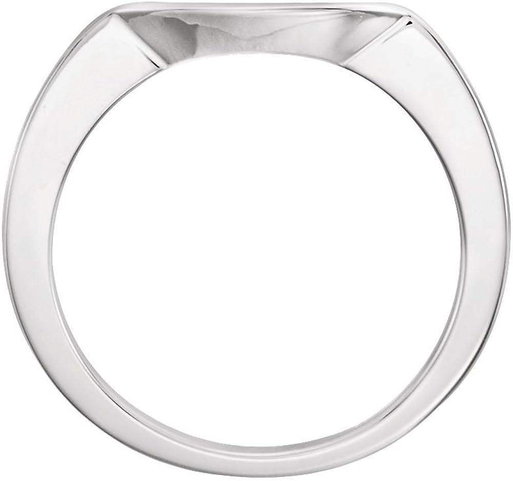 FB Jewels 14k White Gold 6.5mm Wedding Ring Band