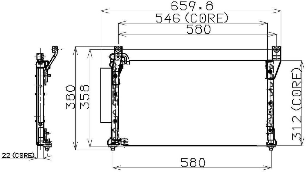 Denso 477-0557 Condenser