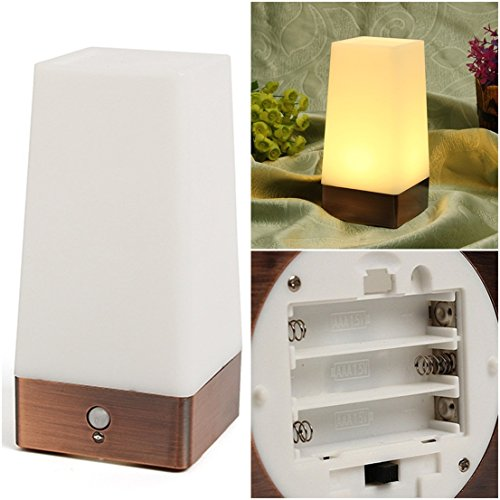 1Pc Unblemished Popular Square Shape Led Nightlight Lightweight Portable Gift Wireless Warm White Light