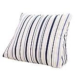 Lumbar Pillow Cailin, Triangle Cushion, Bed Backrest, Office Pillow, Geometric Blue Stripe (Size : 451540CM)