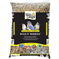 Wild Delight 099127 Bugs N' Berries Wild Bird Food, 4.5 Lb