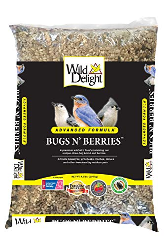 (Wild Delight 099127 Bugs N' Berries Wild Bird Food, 4.5 Lb)