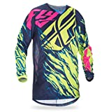 Fly Racing Kinetic Mesh Jersey Relapse Hi-Vis/Blue/Pink (Yellow, XX-Large)