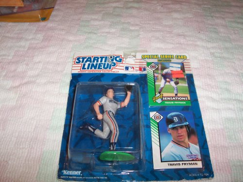 1993 - Kenner - Starting Lineup - MLB - Travis Fryman #24 - Detroit Tigers - Vintage Action Figure - w/ Trading Card & Special Series Card - Limited Edition - Collectible