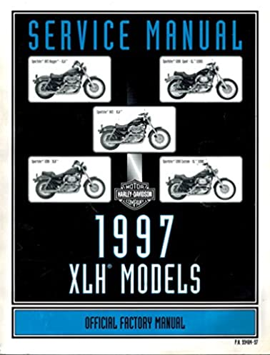 1997 harley davidson xlh models official factory service manual rh amazon com 1997 Harley-Davidson Sportster XL1200C 1997 harley davidson sportster 1200 owners manual