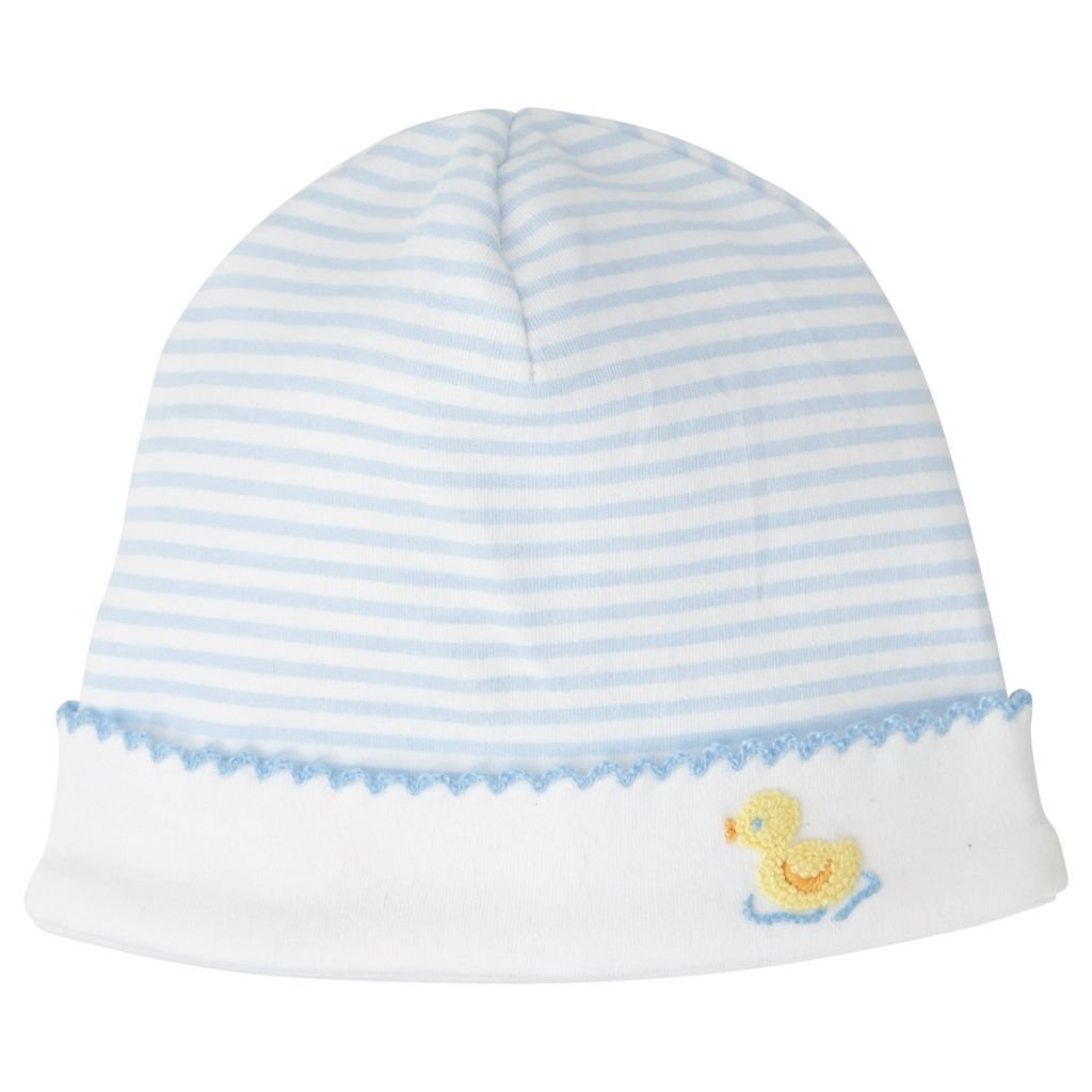 Mud Pie Classic Layette Baby Boy French Knot Duck Cap Hat