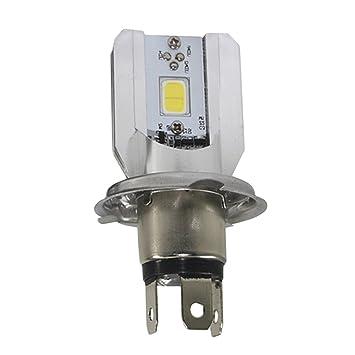 Bombillas LED H4 para faros delanteros de moto Scooter