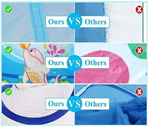 Kindertent met tunnel, ballenbak Speelhuis voor jongens, meisjes, baby's en peuters binnen en buiten (ballen niet inbegrepen) (blauw)