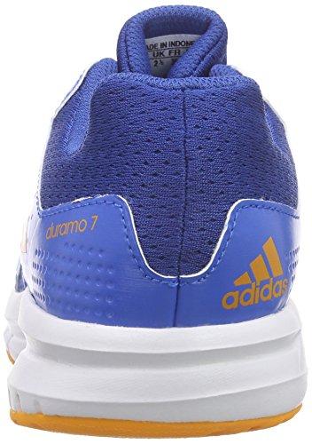 adidas Duramo 7 K Zapatillas de running, Unisex infantil Azul / Naranja / Azul (Eqtazu / Eqtnar / Azuimp)