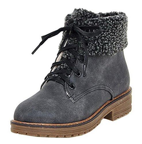 Femme Shoes Couleur Lacet Haut Demi Pu Unie Ageemi Cuir vAadwqxq5