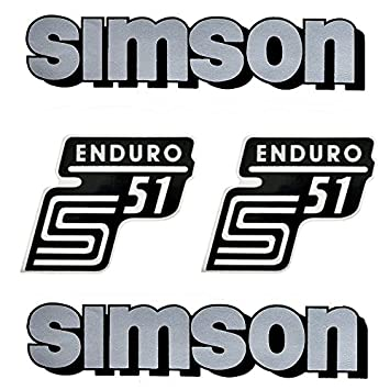 Set Tank And Side Lid Sticker Adhesive Film Simson S51