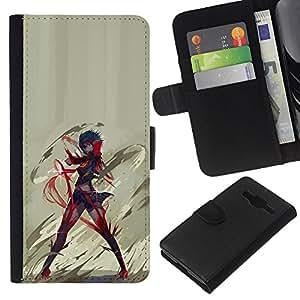 // PHONE CASE GIFT // Moda Estuche Funda de Cuero Billetera Tarjeta de crédito dinero bolsa Cubierta de proteccion Caso Samsung Galaxy Core Prime / Anime Hero /