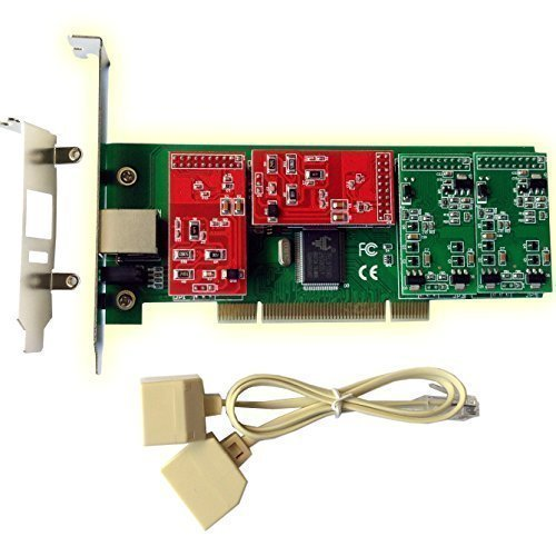 AsteriskStore FXO Card FXS Card with 2 FXO+2 FXS Ports, with Low Profile For 2U,Supports FreePbx,Issabel,Trixbox, PCI (2 Fxo Port Card)
