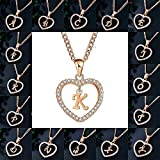 Gold Initial Heart Necklace-14K Gold Filled