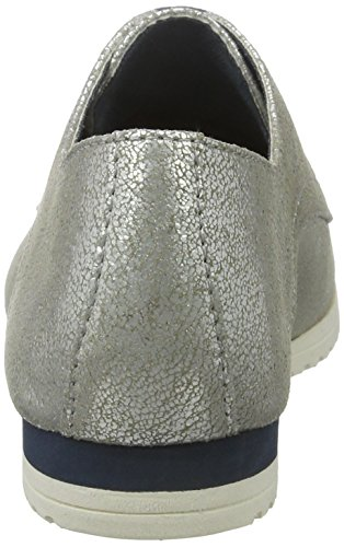 Oxfords 37 EU 23630 Silver Antic Argent Tamaris Femme 945 Silber ISwZw56x