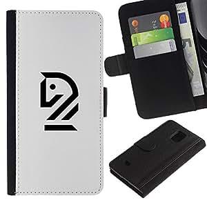 LASTONE PHONE CASE / Lujo Billetera de Cuero Caso del tirón Titular de la tarjeta Flip Carcasa Funda para Samsung Galaxy S5 Mini, SM-G800, NOT S5 REGULAR! / house ?