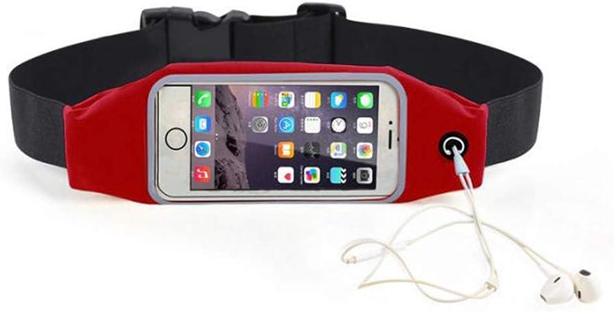 JERKKY Pantalla táctil Aptitud reflexiva Correr Correr Correa Deportiva Bolsa de Cintura Bolsa para teléfonos celulares Rojo 5.5in: Amazon.es: Hogar