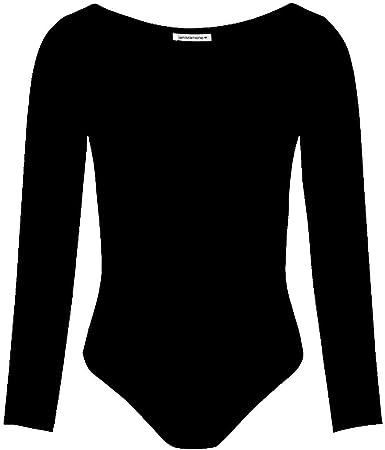 Hamishkane Kids Girls Long Sleeve Round Neck Microfibre Gymnastics Dance Leotard Bodysuit