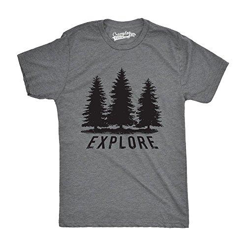 Mens Explore Pine Trees Outdoor Adventure Cool T Shirt