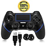 PS4 Controller, Bluetooth Gamepad Six Axies DualShock 4 Wireless Controller for PlayStation 4, Touch Panel Joypad with Dual Vibration