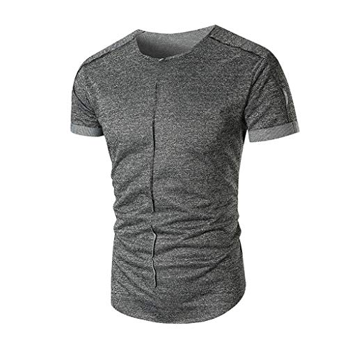 Men's Classic Long Length Curved Hem T-Shirt,Short Sleeve Dri-Fit Gym Athletic Tee,Fitness Running Shirt for Young Black