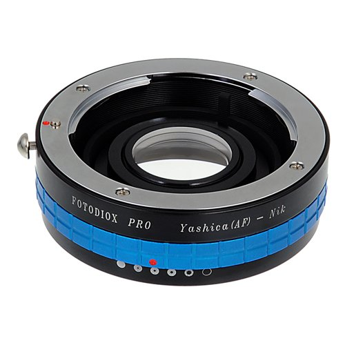 Fotodiox Pro Lens Mount Adapter - Yashica 230 AF SLR Lens to Nikon F Mount SLR Camera Body with Built-In Aperture Control Dial ()