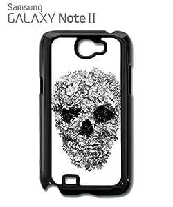 Skull Flower Retro Vintage Mobile Cell Phone Case Samsung Note 2 White