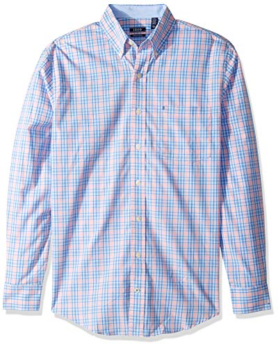 IZOD Men's Big and Tall Premium Performance Natural Stretch Plaid,  Candy Pink, Large Tall