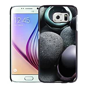 NEW Unique Custom Designed Samsung Galaxy S6 Phone Case With MP3 Player Pebbles Music Lockscreen_Black Phone Case