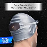 Happy Island Beker Swimming MP3 with IPX8 Waterproof Features in Bone Conduction, Wireless Headphones, 8GB Memory, Underwater Music Player for Watersports.