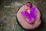 Fairy Glitter Butterfly Wings, Newborn, Baby, Photography prop - Color: PURPLE