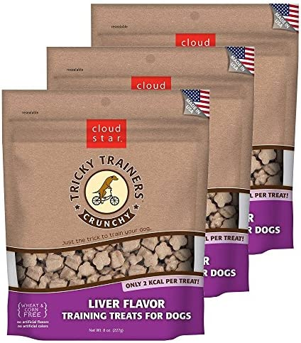 Cloud Star Crunchy Tricky Trainers Training Treats for Dogs 8 oz
