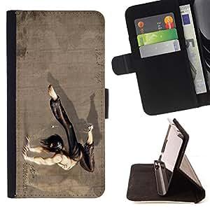 - Kung Fu Guy - - Prima caja de la PU billetera de cuero con ranuras para tarjetas, efectivo desmontable correa para l Funny HouseFOR HTC One M7