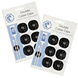 Double Cable Clips - Cable Oganizer - Cord Management - Wire Management System - 12 Pack - Self Adhesive - Durable - Model CM1007 From Blue Key World