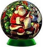 Falcon De Luxe Santa's List Plastic Spherical Puzzle-A-Round Jigsaw (240 Piece)