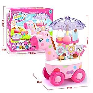 Yiwa Simulación Carritos pequeños Chica Caramelo Mini Tienda ...