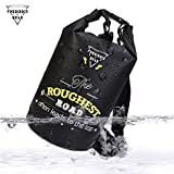 Forbidden Road 5L 10L 15L Waterproof Dry Bag ( 8 Colors) Dry Sack Roll Top Dry Compression Sack Keeps Gear Dry for Kayaking Boating Camping Canoeing Fishing Skiing Snowboarding (Black, 2L)