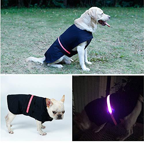 Hpapadks Summer Raincoat,LED Safety Dog Vest Safety ReflectivePet Raincoat Jacket Raincoat Winter Pet Clothes -