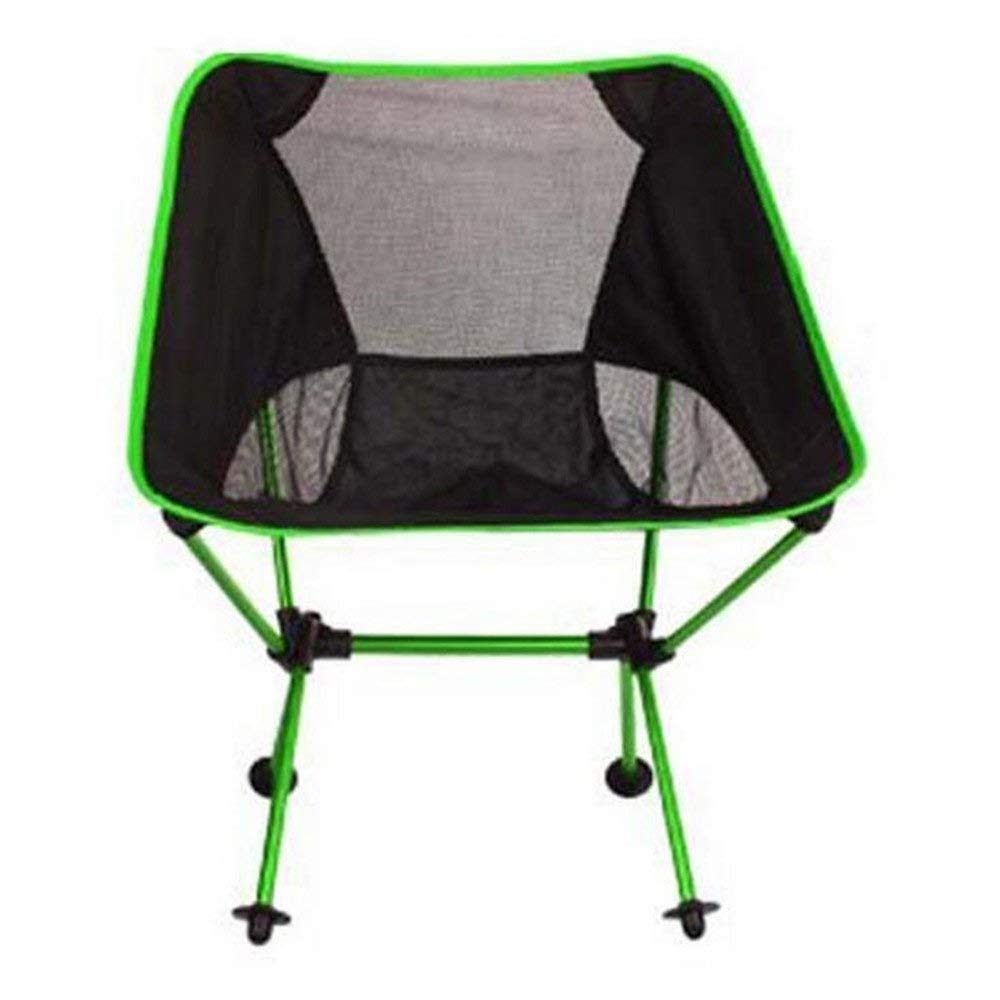 Green RUIMA Casual Simple Folding Chair, Ultra Light Moon Chair Aluminum Alloy Fishing Chair Outdoor Camping Chair (color   Red)
