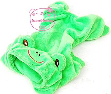 Pet Cat Dog Rana terciopelo pijama Chándal para disfraz pequeño ...