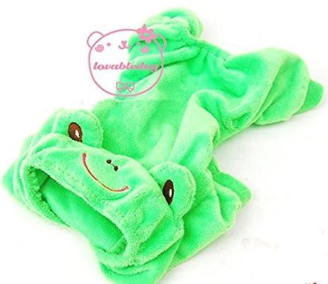 Mascota Gato Perro Rana terciopelo pijama Chándal disfraz pequeño ...