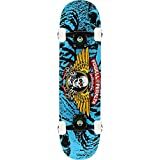 Powell-Peralta Winged Ripper Blue Mini Complete Skateboard - 7' x 28'