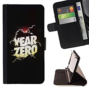 Momo Phone Case / Flip Funda de Cuero Case Cover - Cero Año del cartel de película Nubes Dios - LG G2 D800