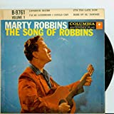 #7: Extended Play Record (EP) ft 4 songs: Lovesick Blues | It's Too Late Now / I'm So Lonesome I Could Cry / Rose of Ol' Pawnee - Marty Robbins (Columbia Records 1957) Excellent (5 out of 10) - Vintage 45 RPM Vinyl Record